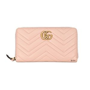 Gucci Large GG Marmont Leather Zip Wallet